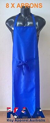 8 x Butchers Apron BLUE Cleaning/Butchers/Deli 105x80cm *MADE IN KINGAROY QLD*