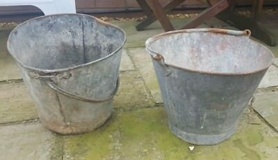 Antique Buckets *Ideal Planters For Garden*