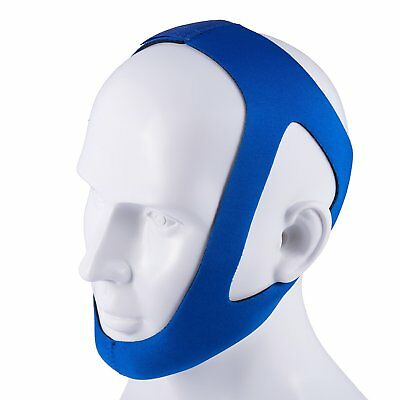 Anti-Snoring Chin Strap, Adjustable Instant Relief Snoring Device - Blue