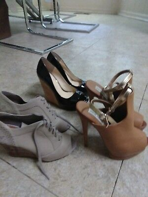 Lot of  3 women shoes size 6 includes Jessica Simpson Steve Madden Giani binni