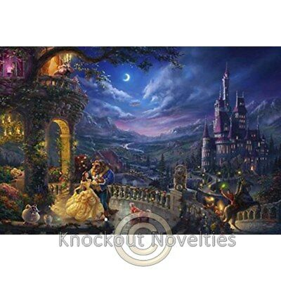 750 Piece Thomas Kinkade Disney Dreams Beauty And Beast Dancing In The Moonlight