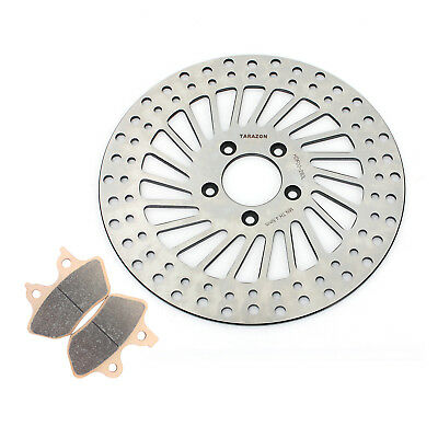 Harley Front Brake Rotor + Pads For Sportster 883 1200 XL C Custom 00 01 02 03