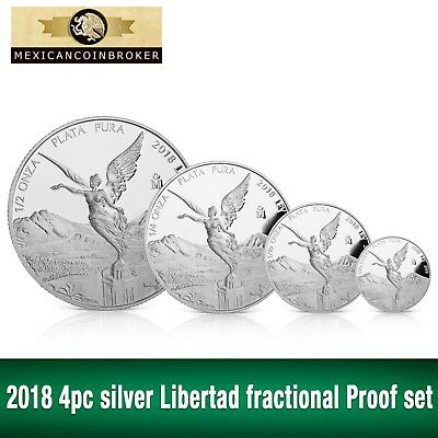 "2018 4pc silver Libertad Proof      ""Treasure Coin of Mexico™"""