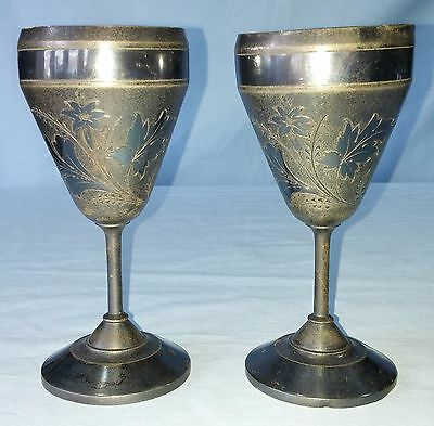 Antique Silver Plated Goblets Rogers, Smith & Co. New Haven, CT