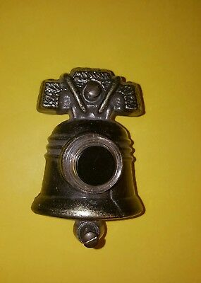 Vtg Electric Push Button Door Bell Liberty Bell Shaped GE General Electric