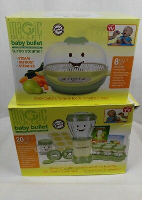 Magic Bullet Baby Bullet Food Making System and Baby Magic Bullet Turbo Steamer