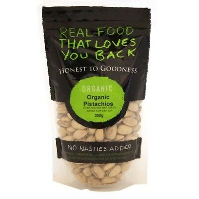 2 X Honest to Goodness  Organic Pistachio Oven Roasted and Lightly Salted 300g
