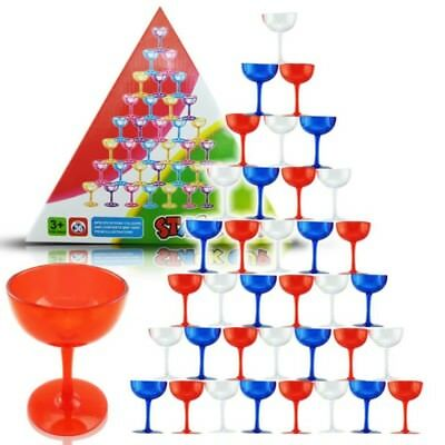 Speed Stacking Cups Set 36Pcs Race Rapid Kids Toy Balance Board Game Gift Funny