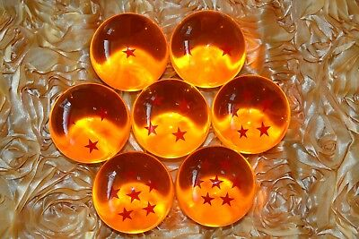 NEW Very large DRAGON BALL Z 1:1 Set of 7 Seven Stars New In Box Crystal Ball