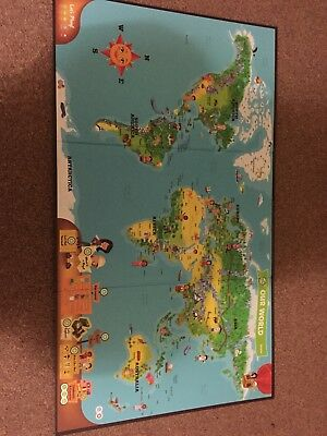 Leapfrog interactive world map for use with leapfrog tag reader leapfrog interactive world map for use with leapfrog tag reader pen boxed gumiabroncs Gallery