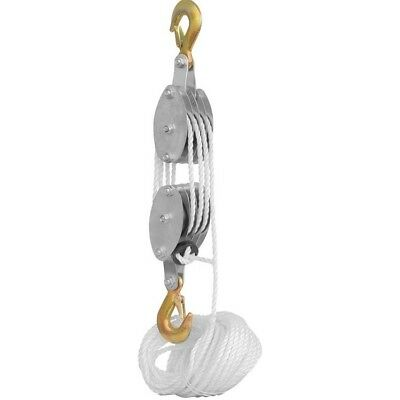 Hand Pull Rope Pully Block and Tackle Hoist Pulling Overhead Lift Lifter Lifting