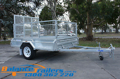 7x5 HOT DIP GALVANISED FULLY WELDED TIPPER BOX TRAILER WITH 1,290MM RAMP