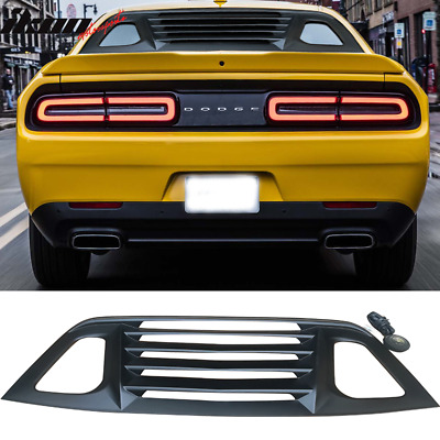 Fits 08-19 Dodge Challenger Window Louver Rear Cover Unpainted ABS