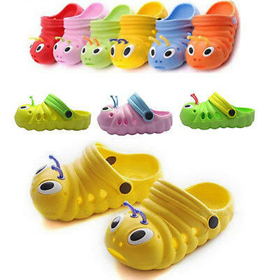 Kids Boys Girls Slip On Summer Beach Sandals Flat Casual Jelly Shoes Infant Size