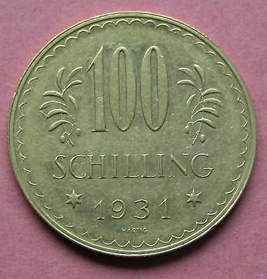 100 Schilling Gold 1. Republik  1931