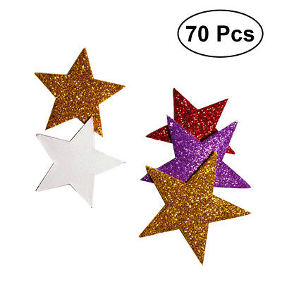70pcs Colorful Self Adhesive Star Shape Foam Glitter Stickers for Kid Craft