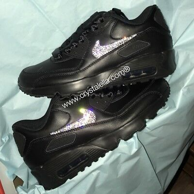 CRYSTAL PRINCESS NIKE Air Max 90 in White with Pink