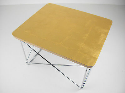 Charles Eames Ltr Occasional Table Vitra Blattgold Gold Leaf