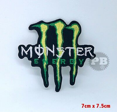 Monster Energy Drink Motocross Logo Iron/Sew on Embroidered Patch UK Seller