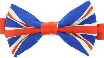 David Van Hagen Union Jack Bow Tie - Blue/Red/White