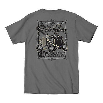2018 Run to the Sun official car show sweatshirt gray Myrtle Beach SC