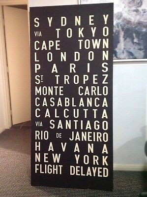 Hand Screen Printed Canvas RRP $900.00 Discounted For Quick Sale
