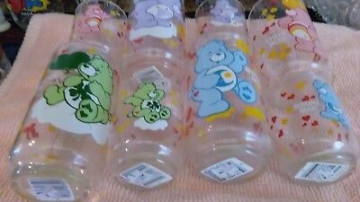 Care Bear drinking glasses 8 pieces new with tags