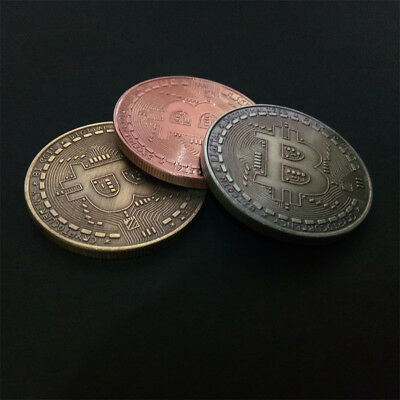 Retro Gold Bitcoin Commemorative Collectors Coin Bit Coin is Gold Plated Coins