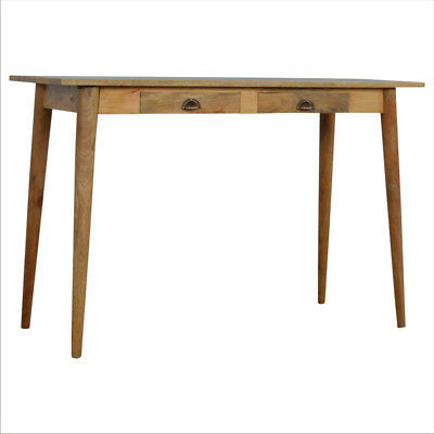 Scandinavian Mid Century Solid Wood Large Desk 120cm - Free Delivery