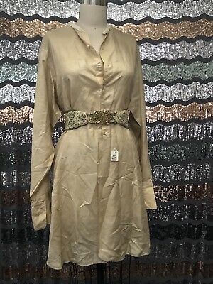 Kaskel & Kaskel NY Edwardian 1910's Silky Cotton Tunic Work Shirt Ovrsized Dress