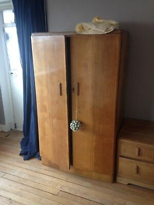 Stylish Antique Art Deco Wardrobe