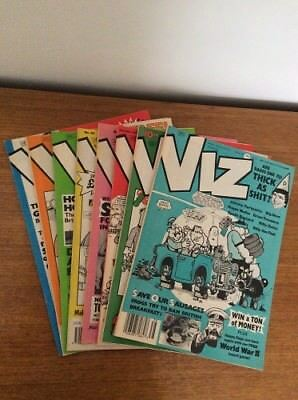 9 x Early Viz comic magazines - issues 38-45 & 100 w I Spy Booklet