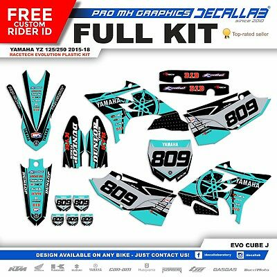 YAMAHA YZ 125/250 2015 2016 2017 2018 Rtech Evolution Graphics Decals Stickers