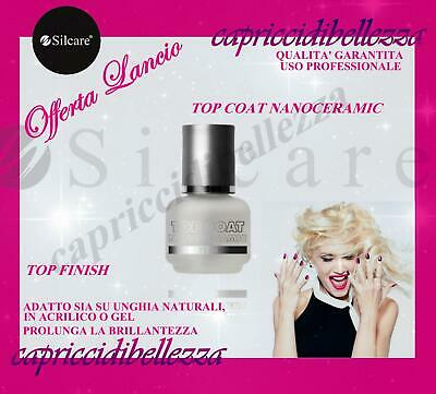 TOP COAT UV SILCARE 15ml TOP FINISH EXTRA GLOSS SIGILLANTE FINALE PER UNGHIE
