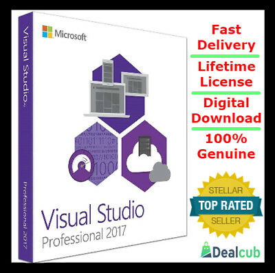 Visual Studio 2017 Professional Genuine ⭐ Lifetime License ⭐ License/Product Key