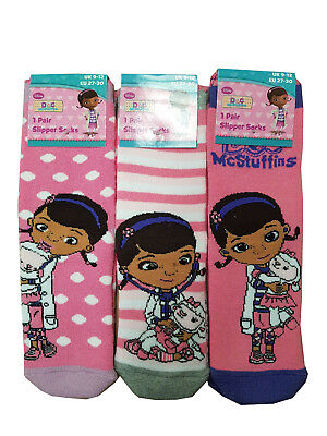 Girls Disney Doc Mcstuffins Slipper Socks With Grippers 1 Pair 3 Designs
