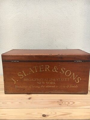 Antique Box / Cabinet / Chest / Tool Box / Collectors Chest - Footwear Boots etc