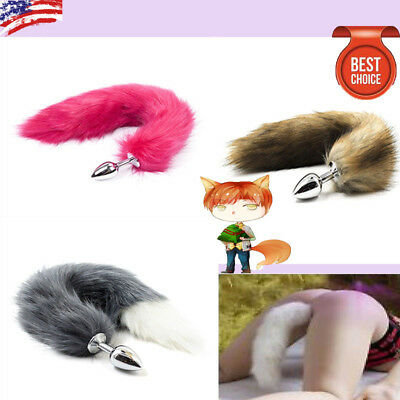 Butt Anal Insert Plug Stopper Slicone Fox-Anal Tail Sexual Adult Toy GameCosplay