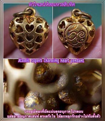 Atomic Superb Charming Heart Phra Arjarn O Thai Amulet Luck Love LP Lady .