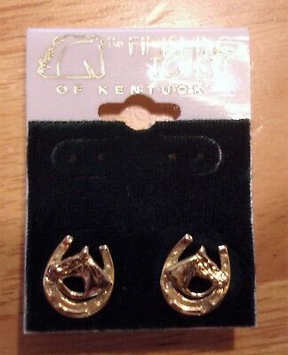 Horse in Horseshoe earrings from Finishing Touches of Kentucky - gold plated