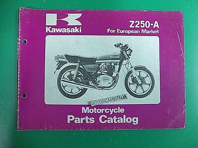 Kawasaki Z250 A1 A2 A3 Motorcycle Catalogo Ricambi Manuale Parts Catalog