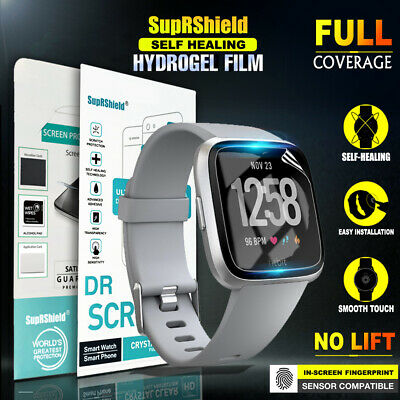 SupRShield Full Coverage Screen Protector Guard For Fitbit Versa /Versa Lite