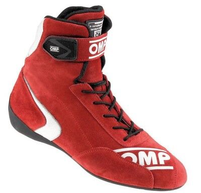 OMP First High Race/Racing/Rally/Driving Boots - FIA Approved