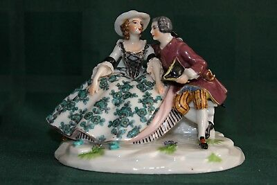 """Porcelain figurine """"Behind the conversation"""" Germany"""