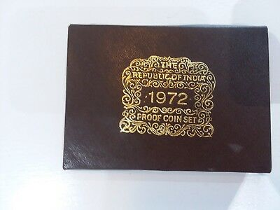 Republic of India 1972 Proof Set Uncirculated 9-Coin Set in Mint Condition