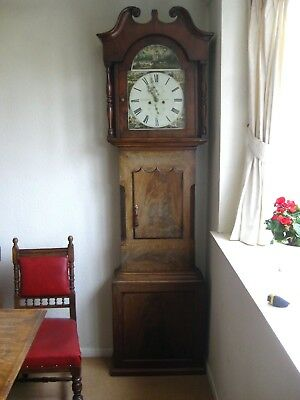 Antique Mahogany 8 Day Longcase Grandfather Clock by H Graves St Ives