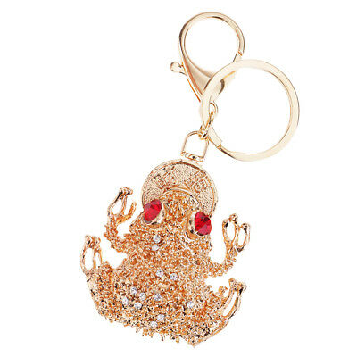 Handmade Blingbling Keychain Crystal Lucky Riches Toad Car Keyring Gifts  2 79fb4f651