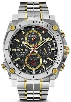 "New Bulova Men's Precisionist Chronograph Watch 98B228 ""MRRP $950"""