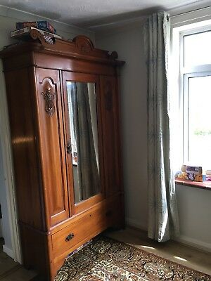 Vintage Armoire/wardrobe With Mirror