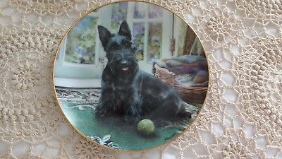 4 SCOTTISH TERRIER Danbury Mint collector plates - Signed by artist M. Hayword